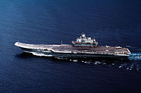 Admiral Kuznetsov, the aircraft carrier of the Russian Navy