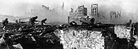 The Battle of Stalingrad, the largest and bloodiest battle in the history of warfare, ended in 1943 with a decisive Soviet victory against the German army.