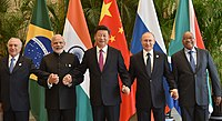 Leaders of the BRICS nations in 2016: (l-r) Michel Temer of Brazil, Narendra Modi of India, Xi Jinping of China, Vladimir Putin of Russia and Jacob Zuma of South Africa