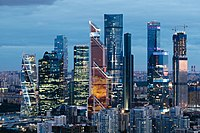 Moscow is a major financial hub in Europe.
