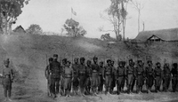 Local Lao soldiers in the French Colonial guard, c.1900