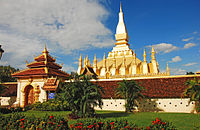 Pha That Luang in Vientiane is the national symbol of Laos.