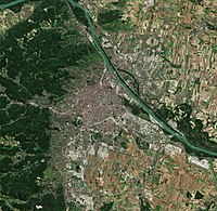 Satellite image of Vienna (2018)