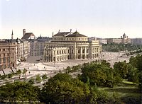 Colour lithograph of Vienna, 1900