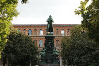 Statue of Friedrich Schiller in front of the Academy of Fine Arts
