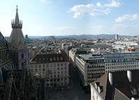 View of the city from Stephansdom