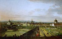 Vienna from Belvedere by Bernardo Bellotto, 1758