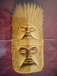 Guerrero handcraft: two-faced mask, carved in wood