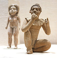 Two figures from the Xochipala archeological site