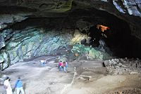 Entering the Cacahuamilpa Caves