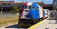 FrontRunner at the North Temple Bridge/Guadalupe Station in Salt Lake City