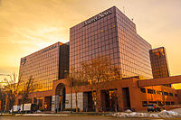 KSL TV, KSL Radio, and the Deseret News are located in the Triad Center in Salt Lake City.