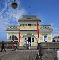 St Kilda Pavilion, formerly Kerby's Kiosk, recently reconstructed