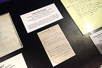 """A manuscript of """"God Only Knows"""" displayed in the Rock and Roll Hall of Fame in Cleveland"""