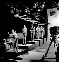 The Beach Boys performing in 1964