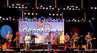Johnston and Love performing as the Beach Boys in 2019