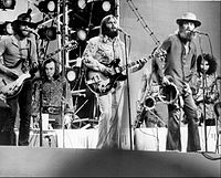 The Beach Boys performing in Central Park for ABC-TV special in 1971