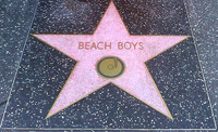 The Beach Boys' star on the Hollywood Walk of Fame, located at 1500 Vine Street