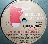 """Norman Granz """"Jazz at the Philharmonic"""" 78rpm release"""