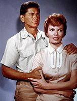 Publicity photo of Bronson and Patricia Owens, 1961