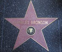 Bronson's star on the Hollywood Walk of Fame