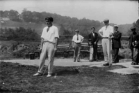 A 1905 golf match with Isaac Mackie (right) at Fox Hills Golf Club, Staten Island, NY