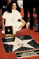 In 1982, Diana Ross received her first star on the Hollywood Walk of Fame. Apart from this star, Ross also received a second for her work with the Supremes.