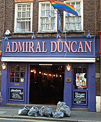 London gay pub bombing in 1999 killed three and injured 70