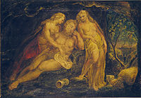 William Blake's Lot and His Daughters, Huntington Library, c. 1800