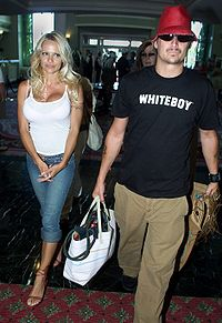 Kid Rock and former spouse Pamela Anderson in 2003