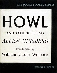 First edition cover of Ginsberg's landmark poetry collection, Howl and Other Poems(1956)