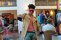 A cosplayer dressed as Jubilee at the inaugural Flame Con on June 13, 2015 at Grand Prospect Hall