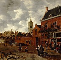 Street in The Hague by Sybrand van Beest, c. 1650, Royal Castle in Warsaw