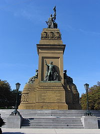 Monument commemorating the founding of the Kingdom of the Netherlands at Plein 1813