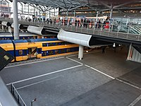 Internal view of The Hague Central station