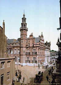 The Old City Hall of The Hague around 1900
