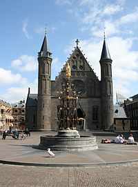 The Ridderzaal inside the Binnenhof, the political centre of the Netherlands