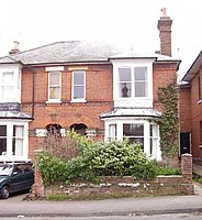 The house in Wathen Road, Dorking, Surrey, where Olivier was born in 1907