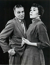 Olivier, with Joan Plowright in The Entertainer on Broadway in 1958
