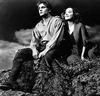 Olivier, with Merle Oberon in the 1939 film Wuthering Heights