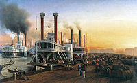 Mississippi River steamboats at New Orleans, 1853