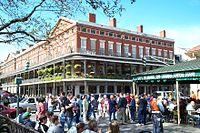 Café du Monde, a landmark New Orleans beignet cafe established in 1862