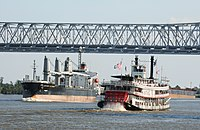 The steamboat Natchez operates out of New Orleans