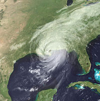 Hurricane Katrina at its New Orleans landfall