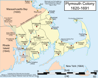 Plymouth Colony town locations