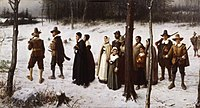Pilgrims Going to Church by George Henry Boughton (1867)
