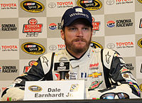 Earnhardt Jr. at the 2015 Toyota/Save Mart 350