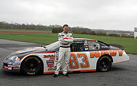 Earnhardt Jr. and the No. 83 NAVY Chevrolet in the 2008 NASCAR Nationwide Series.