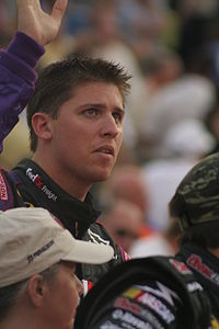 Race winner Denny Hamlin in 2007.