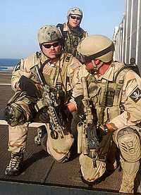 SEALs during a VBSS training in support of Operation Iraqi Freedom